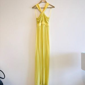 BCBGeneration Long Yellow Dress Size 0